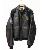 AVIREX(アヴィレックス)の古着「A-2フライトジャケット」|ダークブラウン