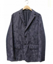 Mr.BATHING APE(ミスターベイシングエイプ)の古着「エイプカモ中綿テーラードジャケット」|ネイビー