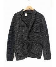 N.HOOLYWOOD(エヌハリウッド)の古着「ウールニットジャケット」|ブラック