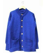 LeTricoteur(ル・トリコチュール)の古着「ハイネックカーディガン」|ブルー