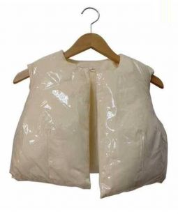 COMME des GARCONS(コムデギャルソン)の古着「PCVレイヤード中綿ベスト」|オフホワイト