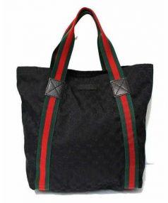 GUCCI(グッチ)の古着「シェリーライントートバッグ」|ブラック