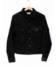 JOURNAL STANDARD relume(ジャーナルスタンダード レリューム)の古着「スウェードレザージャケット」 ブラック