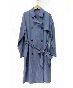 LAUTRE AMONT(ロートレアモン)の古着「オーバーサイズトレンチコート」 ブルー