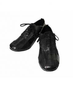 COMME des GARCONS HommePlus(コムデギャルソンオムプリュス)の古着「パッチワークレザーシューズ」|ブラック