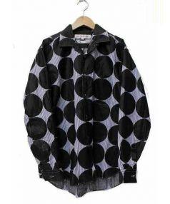 COMME des GARCONS SHIRT(コムデギャルソンシャツ)の古着「ドットプリントシャツ」|ブラック×ブルー