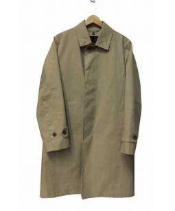 MACKINTOSH PHILOSOPHY(マッキントッシュフィロソフィー)の古着「コットンボンディングステンカラーコート」 ベージュ