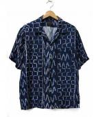 BANANATIME(バナナタイム)の古着「オープンカラーシルクシャツ」|ブルー