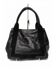 BALENCIAGA(バレンシアガ)の古着「レザーハンドバッグ」 ブラック