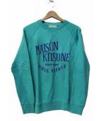 MAISON KITSUNE(メゾンキツネ)の古着「プリントスウェット」 ミント