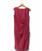 GRACE CONTINENTAL(グレースコンチネンタル)の古着「ドレープタックワンピース」|ピンク