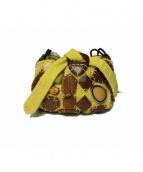 JAMIN PUECH(ジャマンピュエッシュ)の古着「装飾ミニハンドバッグ」|イエロー