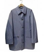 HERMES(エルメス)の古着「中綿ステンカラーコート」|ブルー