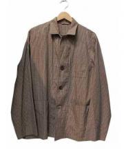 camoshita UNITED ARROWS(カモシタ ユナイテッドアローズ)の古着「オープンカラーシャツジャケット」 ベージュ