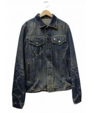 HG Hysteric Glamour(ヒステリックグラマー)の古着「バックコロゴデニムジャケット」|ブルー