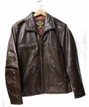 HARLEY-DAVIDSON(ハーレーダビットソン)の古着「レザーカーコートジャケット」 ブラウン