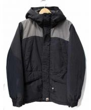 A BATHING APE(ア ベイシング エイプ)の古着「中綿ジャケット」 グレー×ブラック