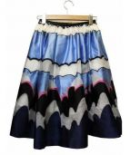 CHESTY(チェスティー)の古着「ボリュームフレアスカート」|ブルー