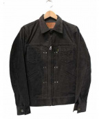 RUDE GALLERY BLACK REBEL(ルードギャラリー ブラックレーベル)の古着「コーデュロイデニムジャケット」 グレー