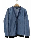 FRANK LEDER(フランクリーダー)の古着「ジャーマンデニムブルーカーディガン」 ブルー