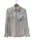 REMI RELIEF(レミレリーフ)の古着「スタッズウエスタンシャツ」|ホワイト