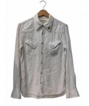 REMI RELIEF(レミレリーフ)の古着「スタッズウエスタンシャツ」 ホワイト