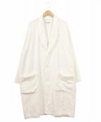 robe de chambre COMME des GARCONS(ローブドシャンブルコムデギャルソン)の古着「パイルローブコート/ガウンコート」|ホワイト