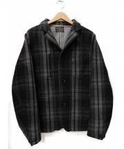 Mr.GENTLEMAN(ミスタージェントルマン)の古着「ウールチェックジャケット」|グレー×ブラック