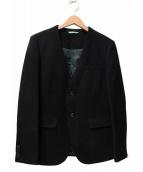 FRAPBOIS(フラボア)の古着「ノーカラー2Bジャケット」|ブラック