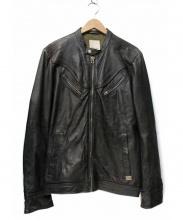 DIESEL(ディーゼル)の古着「シングルライダースジャケット」
