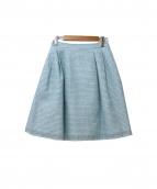 TOCCA(トッカ)の古着「HOLLYWOODツイードスカート」|ブルー