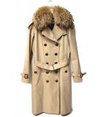 BURBERRY LONDON(バーバリーロンドン)の古着「ファー・ライナー付トレンチコート」 ベージュ