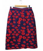 BAUM UND PFERDGARTEN(バウムウンドヘルガーデン)の古着「ジャガードフラワースカート」