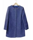 ANAYI(アナイ)の古着「デニムライクシャギーノーカラーコート」