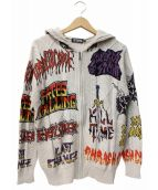 Hysteric Glamour(ヒステリックグラマー)の古着「プリントジップニットパーカー」