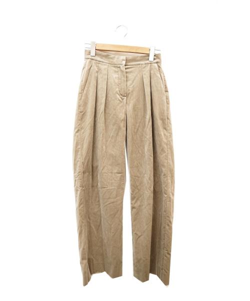 MaxMara(マックスマーラ)MaxMara (マックスマーラ) ベロアタックパンツ グレー サイズ:36 イタリア製の古着・服飾アイテム