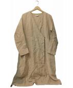YARRA(ヤラ)の古着「リネンカシュクールワンピース」