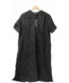 YARRA(ヤラ)の古着「リネンシャツワンピース」|ブラック