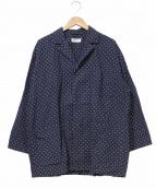 robe de chambre COMME des GARCONS(ローブドシャンブルコムデギャルソン)の古着「[OLD]ドットオーバーサイズパジャマシャツ」|ネイビー