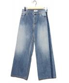 SERGE de bleu(サージ)の古着「サイドラインデニムパンツ」|インディゴ