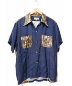 Dry Bones(ドライボーンズ)の古着「古銭ボタンアロハシャツ」 ネイビー