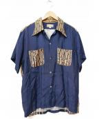 Dry Bones(ドライボーンズ)の古着「古銭ボタンアロハシャツ」|ネイビー