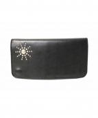 HTC(エイチティーシー)の古着「スタッズレザー長財布」|ブラック