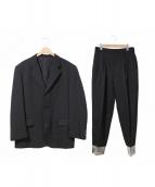 COMME des GARCONS HOMME(コムデギャルソンオム)の古着「90'sビニール切替セットアップスーツ」|ブラック