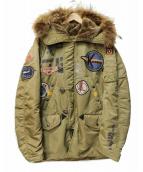 AVIREX(アヴィレックス)の古着「フルデコN-3Bタイプコート」 カーキ