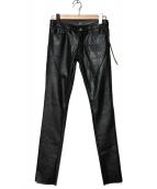 SEIGEKI(セイゲキ)の古着「フェイクレザーパンツ」|ブラック