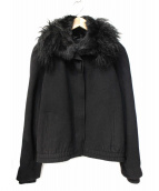 EMPORIO ARMANI(エンポリオアルマーニ)の古着「ファー付きショートジャケット」|ブラック