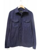 ESTNATION(エストネーション)の古着「エコレザーシャツジャケット」|ネイビー
