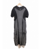 COMME des GARCONS(コムデギャルソン)の古着「シースルーデザインワンピース」|ブラック