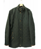 BROOKS BROTHERS(ブルックスブラザース)の古着「ロロピアーナウールキルティングコート」 グリーン